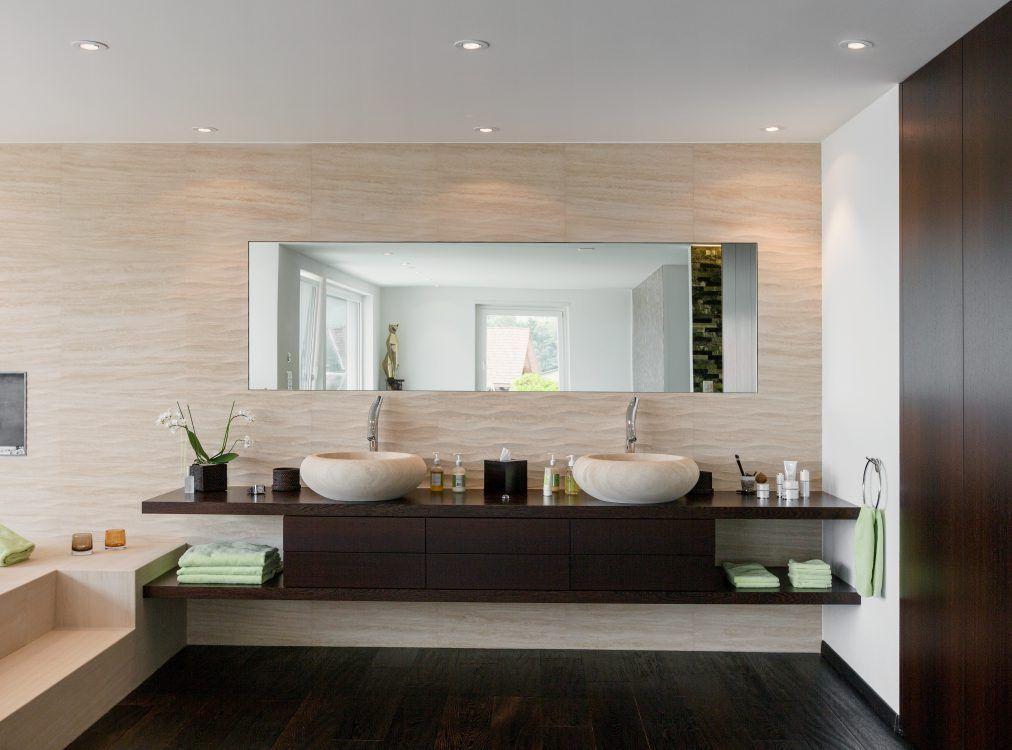 natursteinwand als verbindung whirlpool und badbereich | wellness, Wohnideen design