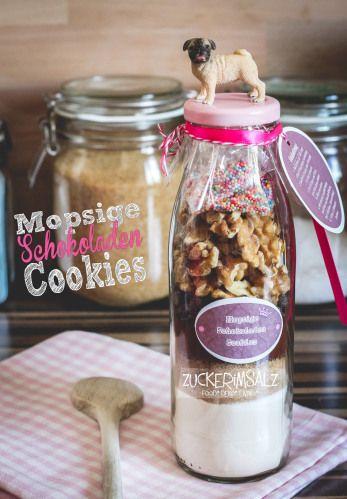 1 Mopsige Schoko Kekse Geschenke Backmischung Schokolade