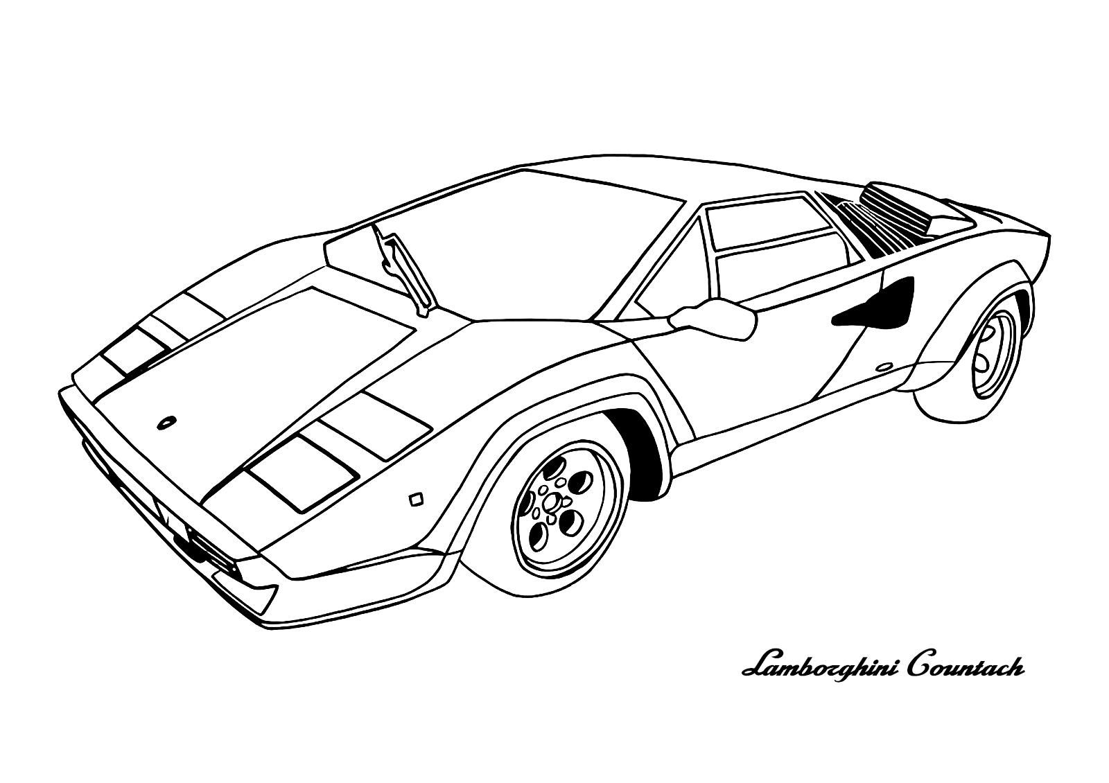 Cars Lamborghini Countach | Cars Coloring Pages | Pinterest