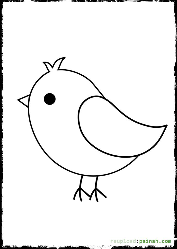 Cute Baby Bird With Images Bird Template Bird Coloring Pages