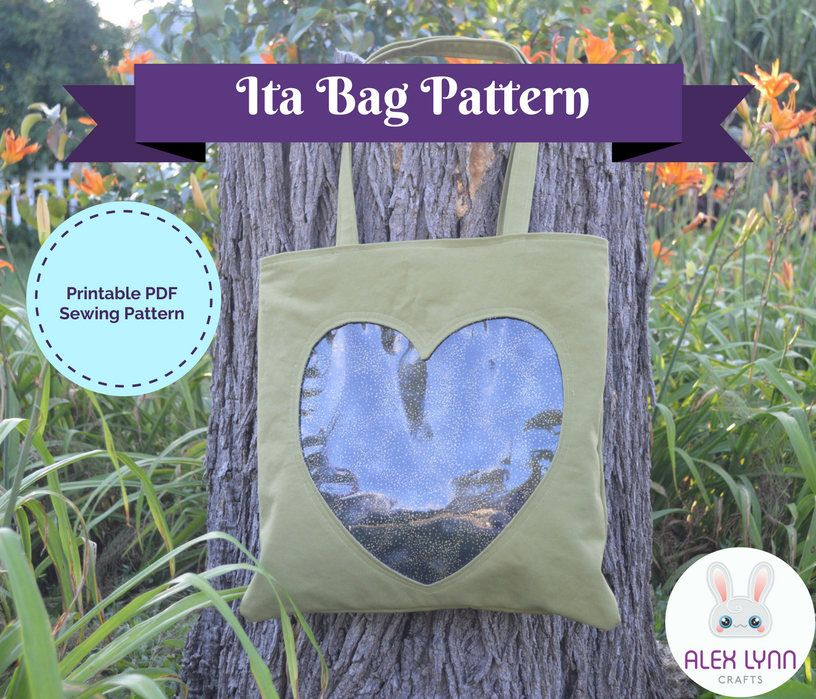 Ita Bag with Hidden Zipper PDF Sewing Pattern - Clear Pocket Tote ...