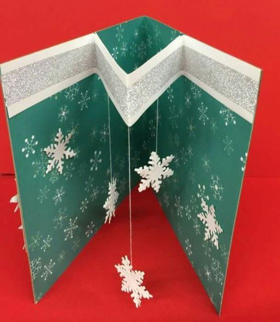 Diy Christmas Card Ideas For Families 3d Christmas Tree Card Diy Christmas Cards Christmas Cards Handmade Christmas Card Crafts