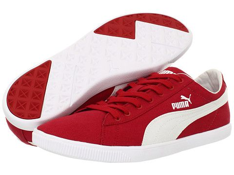 PUMA Glyde Lite Low Ribbon Red White  af39cbc57