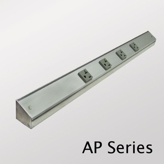 Under Cabinet Power Strip Angled