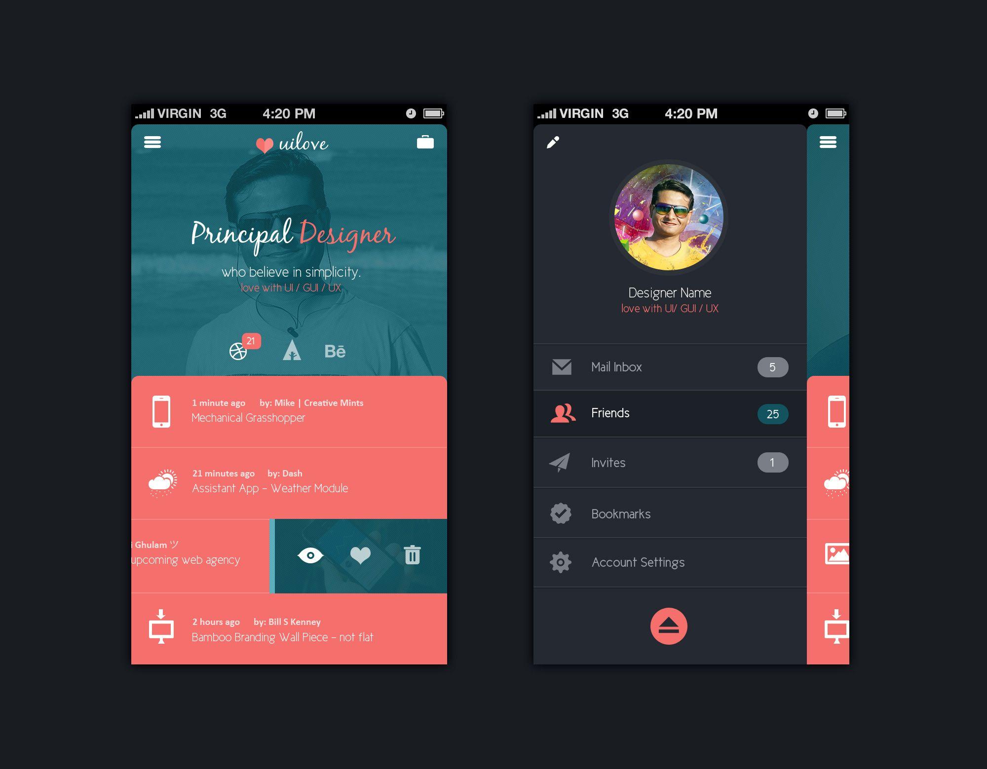 Cool Screen Design By Madan Patil Psd Http Madanpatil