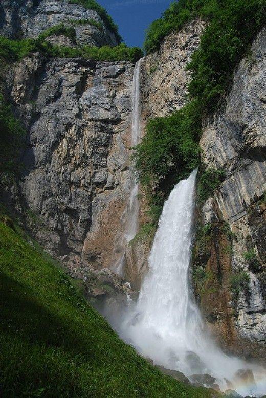 Seerenbach Waterfall, Walensee, SG  Switzerland