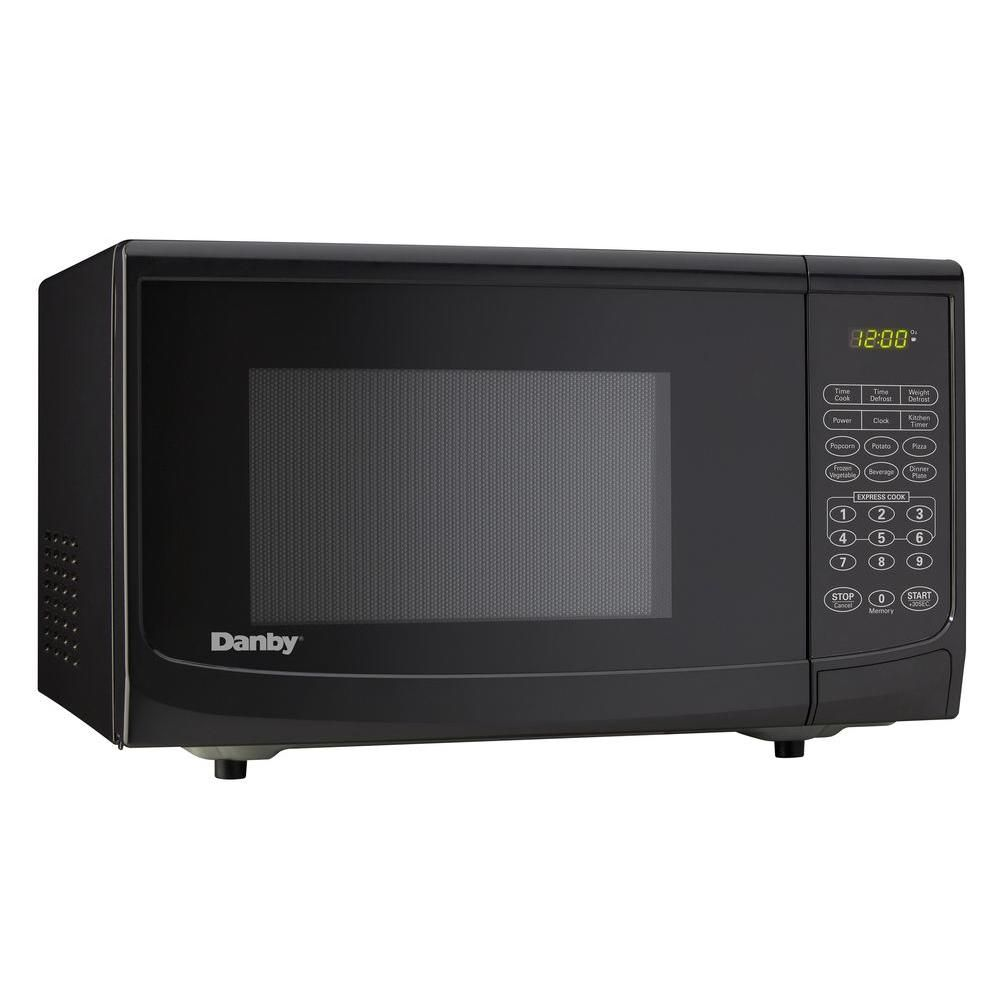 Danby 0 7 Cu Ft Countertop Microwave In White Dmw7700wdb Countertop Microwave Oven Best Countertop Microwave Compact Microwave