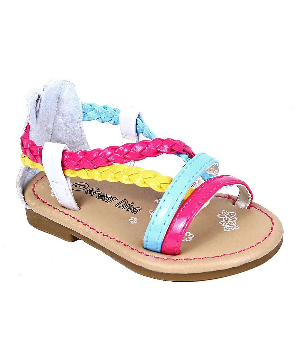 3af86fc523a177 Look what I found on Great Diva White   Pink Cute Sandal by Great Diva