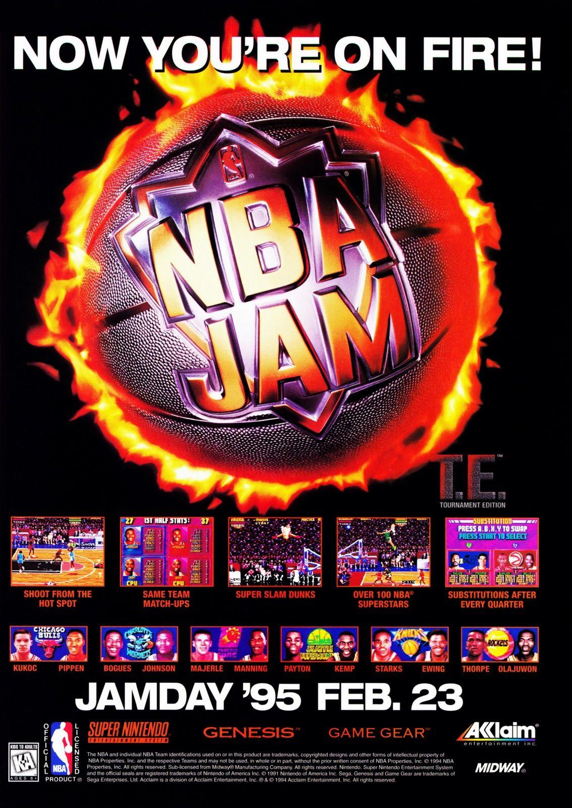 Nba Jam On Sega Genesis So Many Memories Playing That
