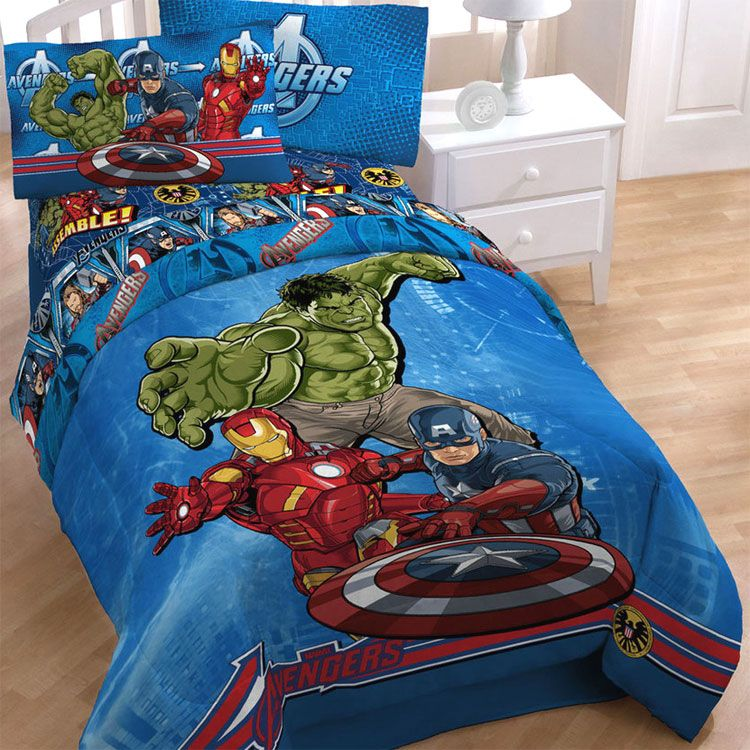 Marvel Avengers Enforcement 5pc Twin Single Bed In A Bag