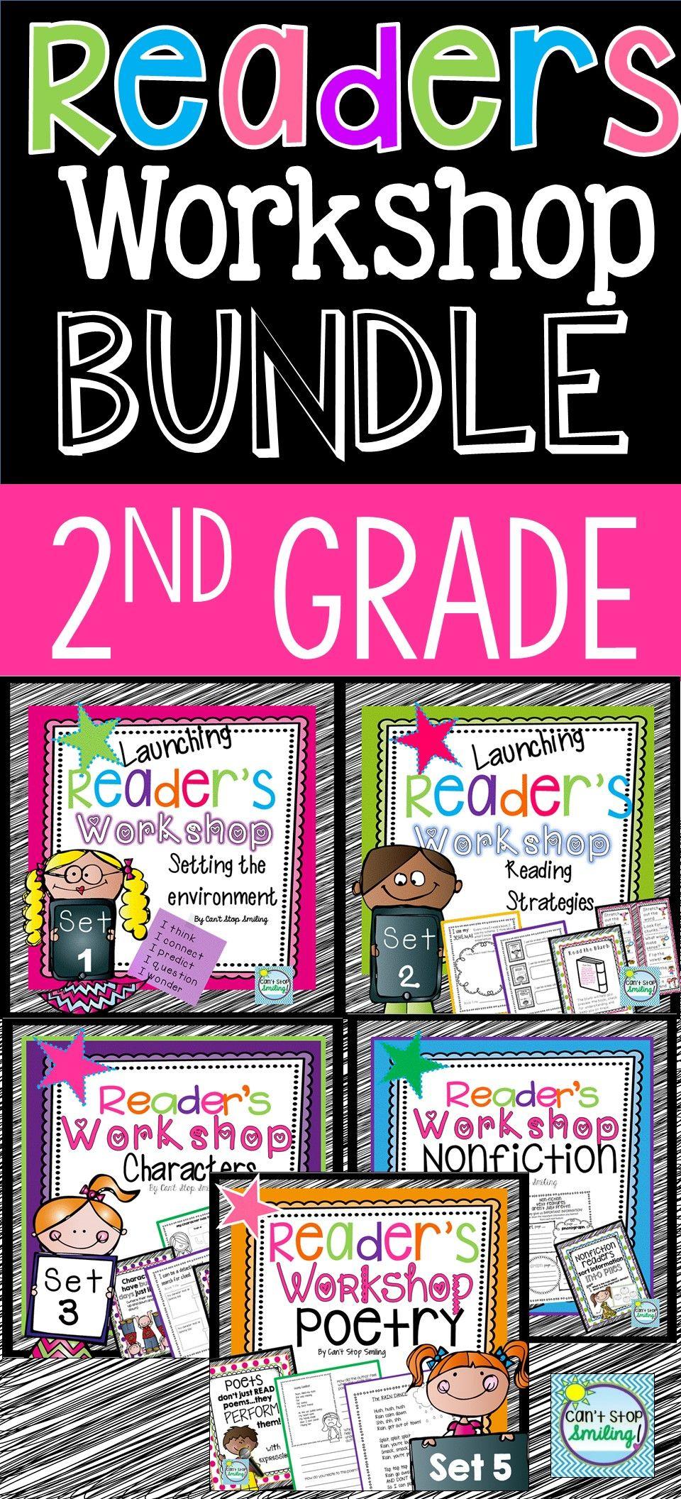 Readers Workshop 2nd Grade Bundle Resources Posters Lessons Readers Workshop Reading Workshop 2nd Grade Reading mini lessons grade