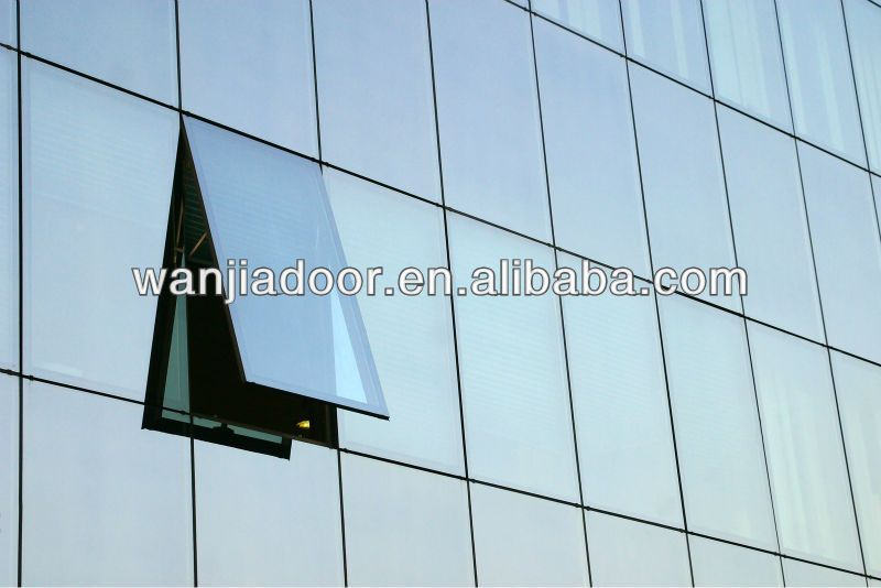 Top grade aluminum frameless operable curtain wall photo for Operable awning windows