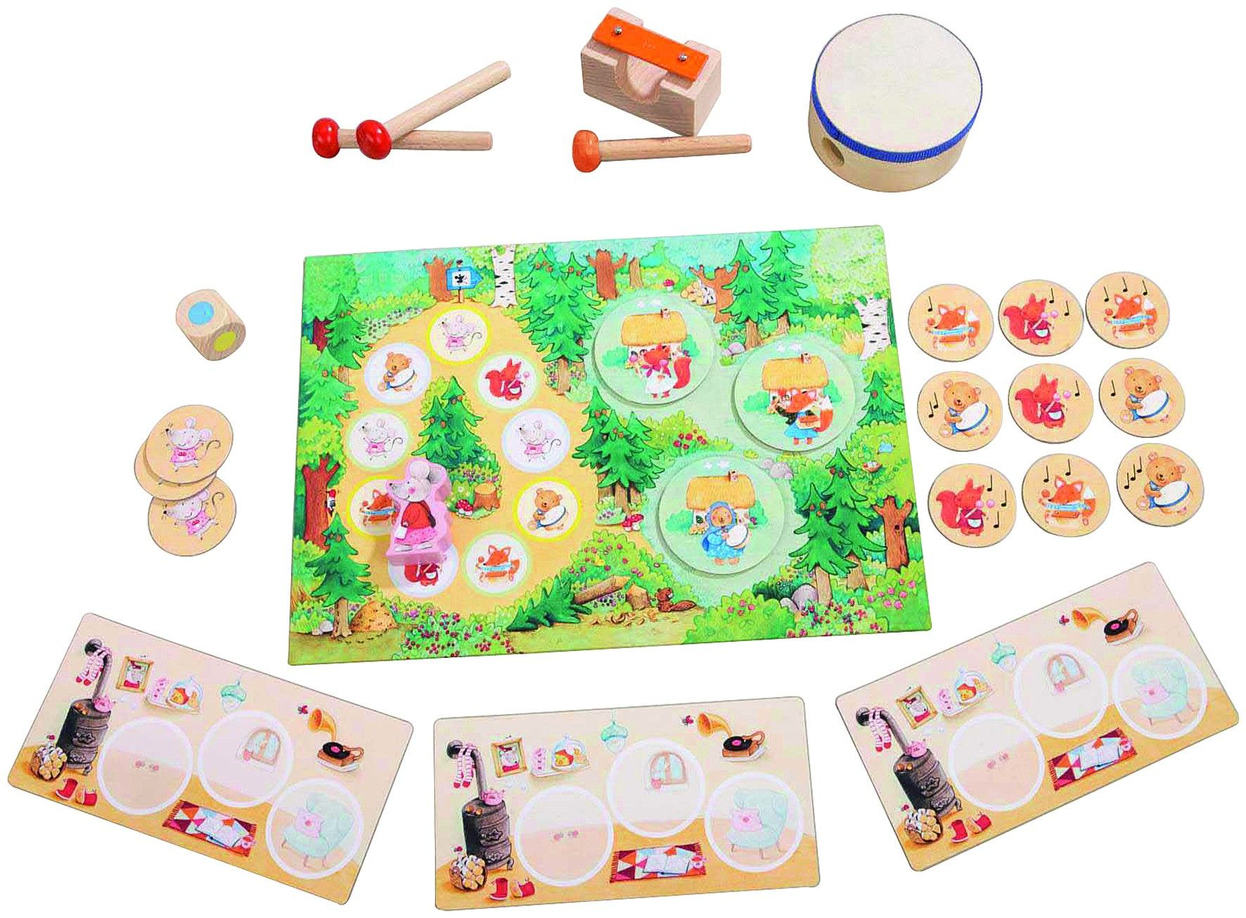 Haba Toys My Very First Games Ding Dong Forest Musical Board