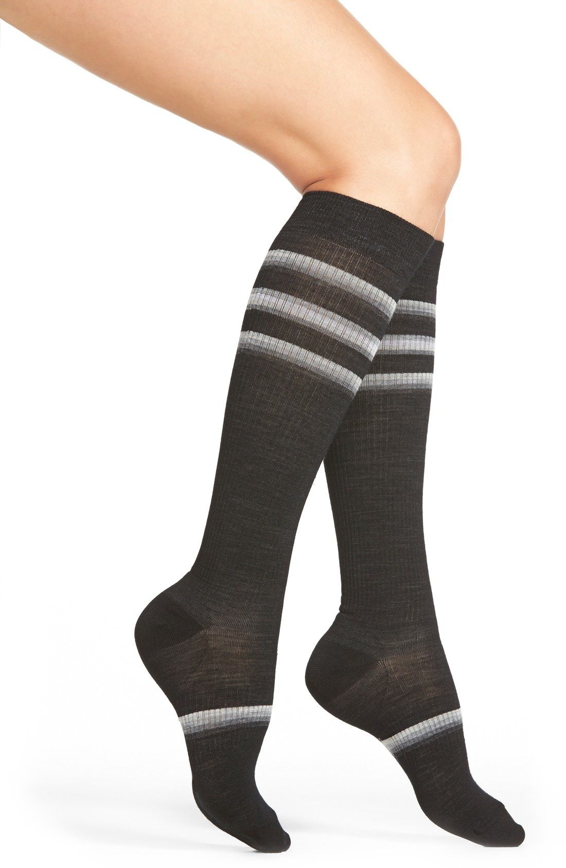 7f3cb4c53fe Stand Up  Stripe Compression Knee Socks