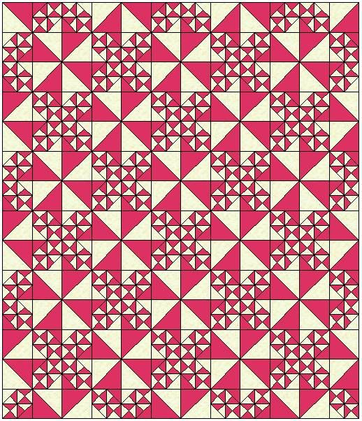 Tumbling Triangles Quilt Pattern Pinwheel Quilts