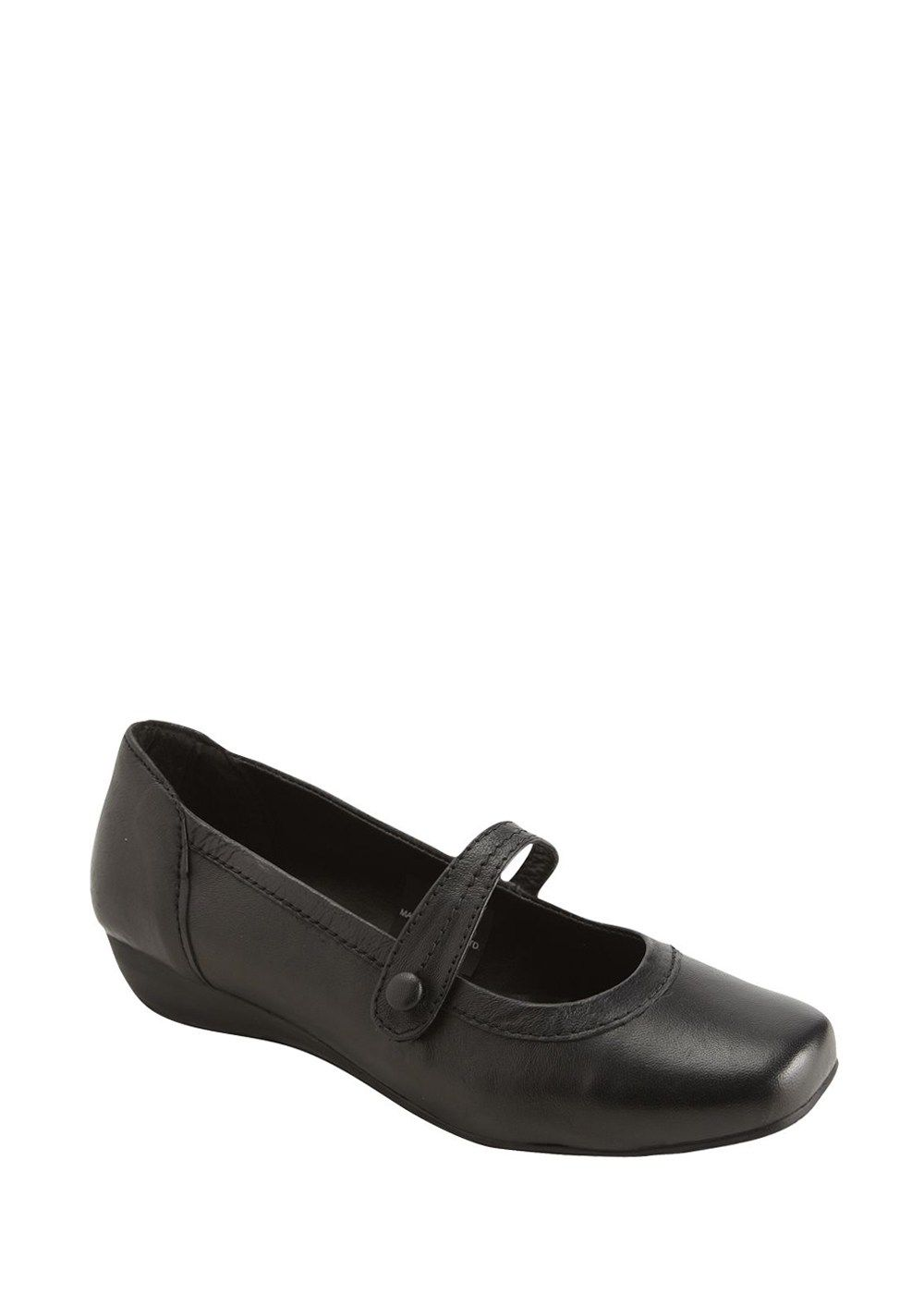 040125a2ba66 Soleflex Real Leather Wide Fit Mary-Jane Shoes - Matalan