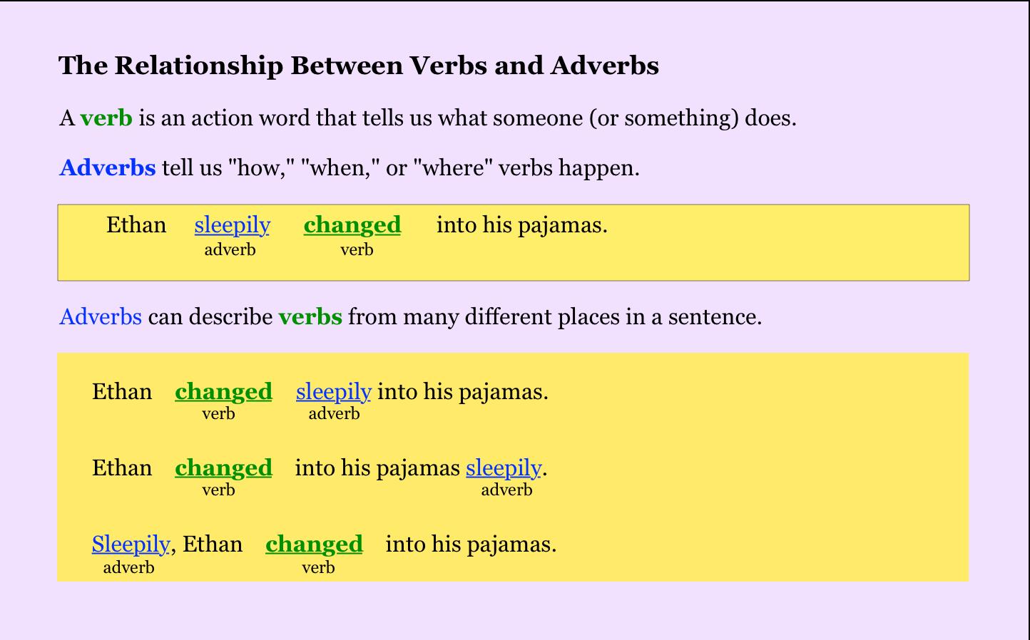 NoRedInk (Teacher) | Action words, Sentences, Words