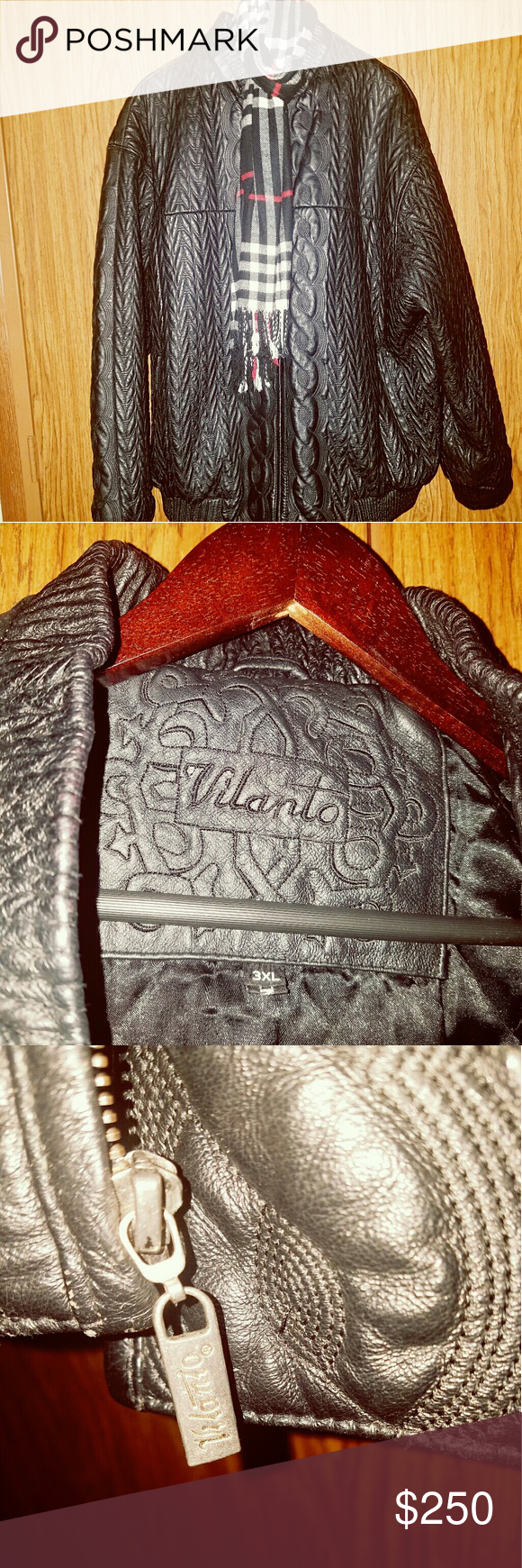 Vilanto Leather Coat Very Warm And Heavy Brought In Great Condition No Flaws Other Jackets Coats Leather Coat Clothes Design Real Leather [ 1740 x 580 Pixel ]
