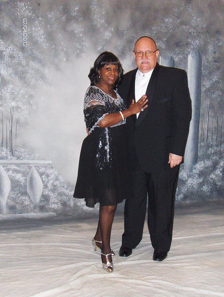Dee and Charles, Steppers contest winners. Married on