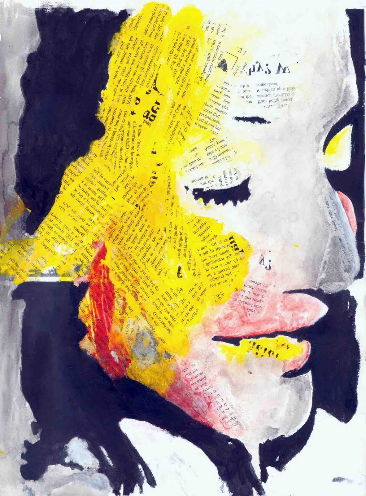Clarissa Type Face Nic Brown. Gesso Transfers Acrylic