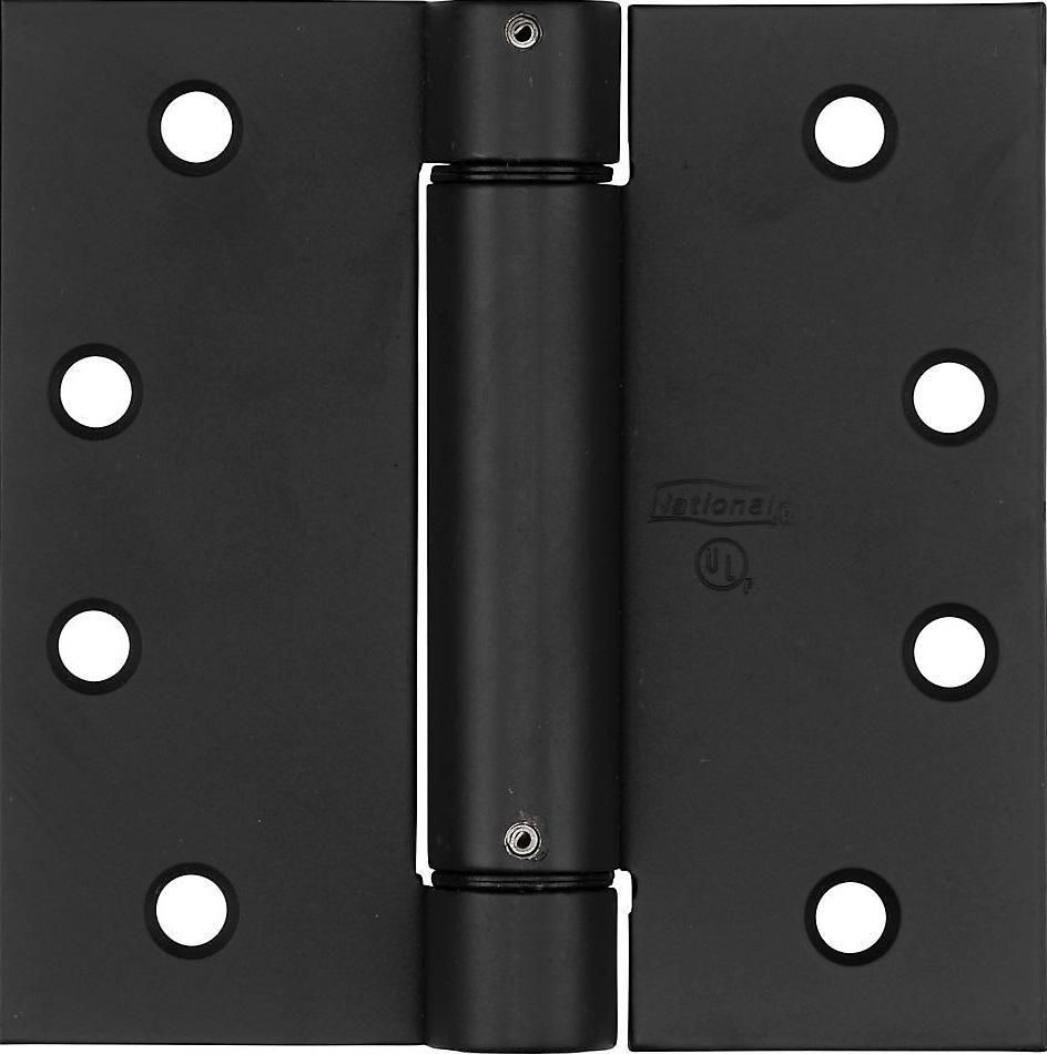 National Hardware N350 793 V520 Adjustable Square Corner Spring Hinge 4 Door Hinges Oil Rubbed Bronze Spring Door Hinge