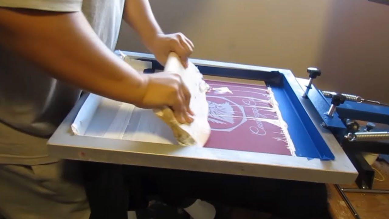 Screen Printing in 2020 Diy screen printing, Silk screen