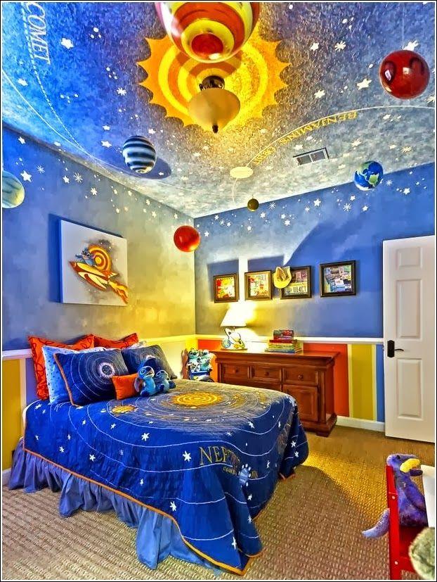 Cuarto tem tico universo cuarto en 2019 dormitorio de - Habitaciones decoradas para bebes ...