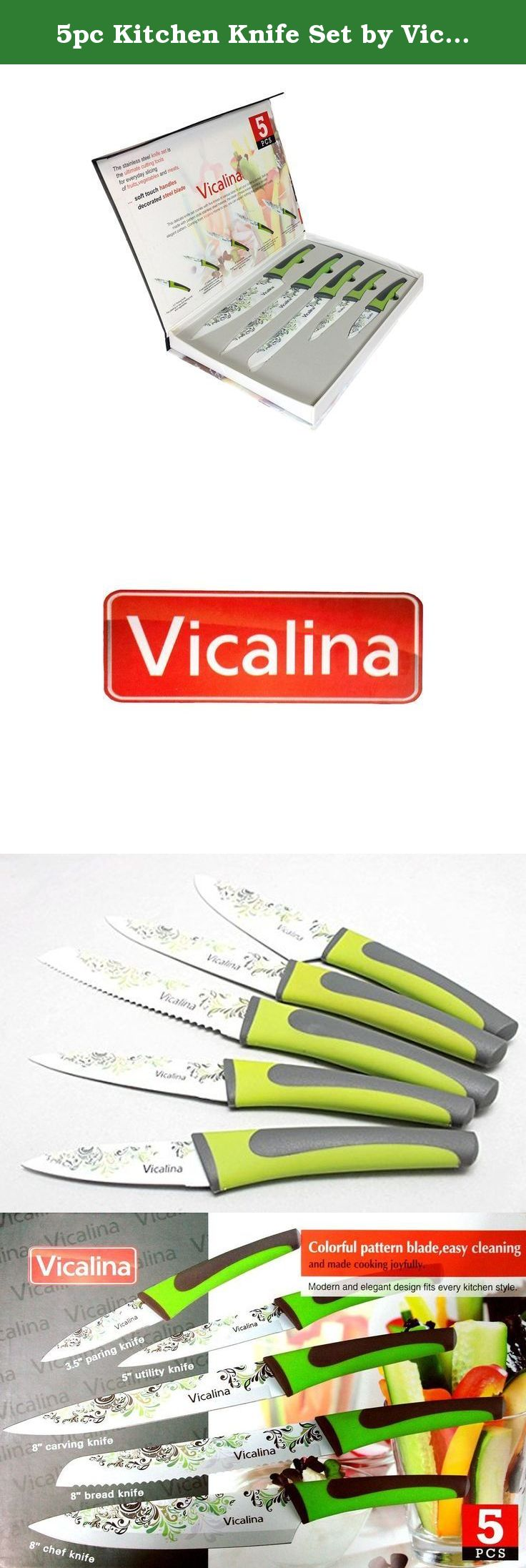 5pc kitchen knife set by vicalina elegant and functional 5 piece