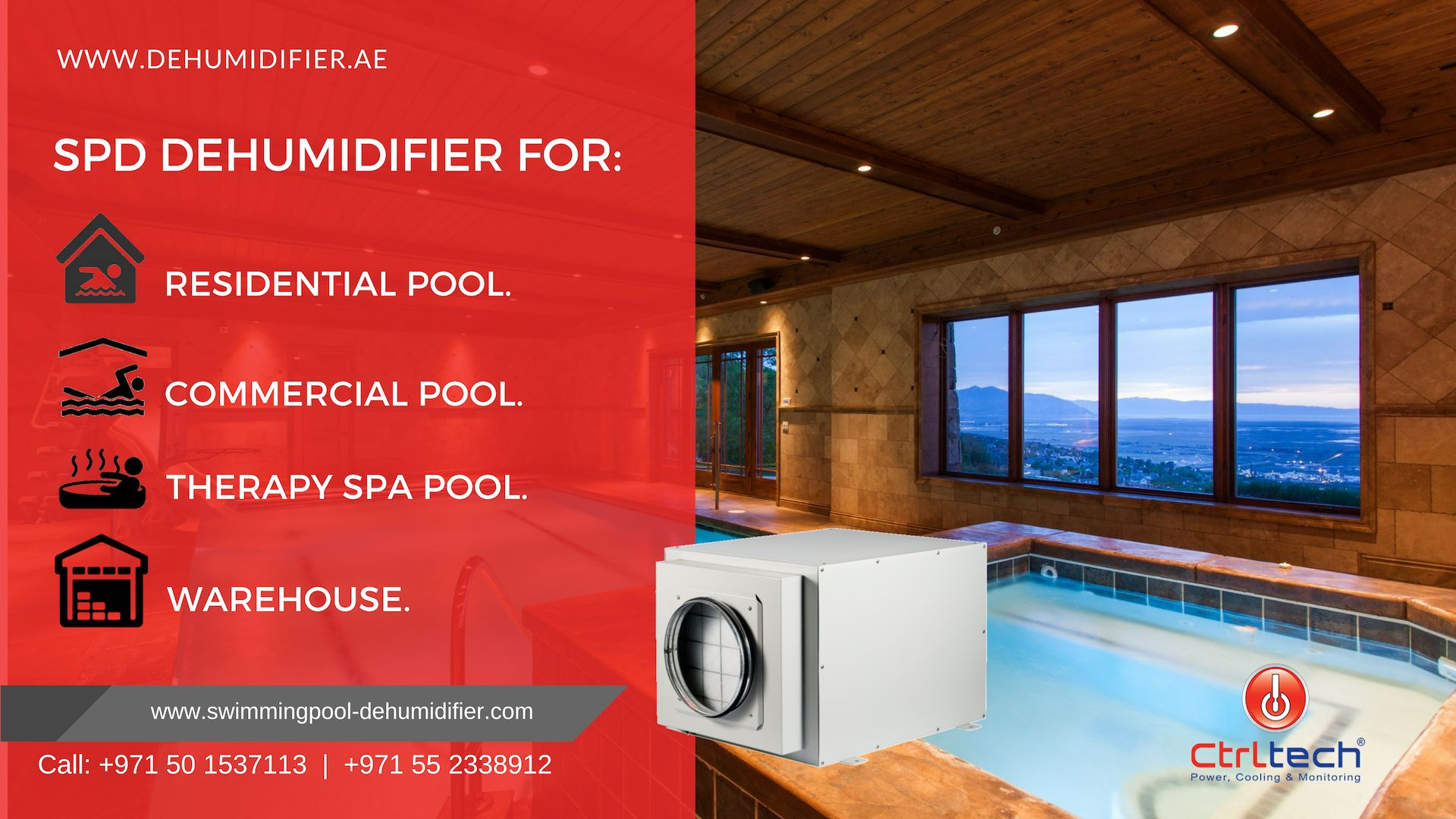 Spd Series Indoor Pool Room Dehumidifier Can Be Used For Small Residential Pools Large Commercial Pool Such As Pool Residential Pool Therapy Pools Indoor Pool