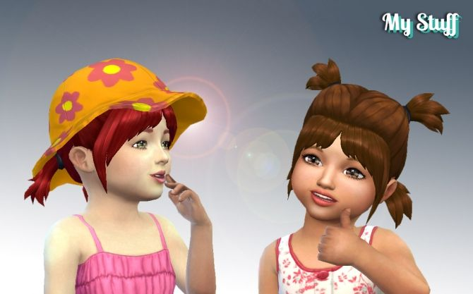Playful Hair At My Stuff Sims 4 Updates Toddler Hair Sims Sims Hair
