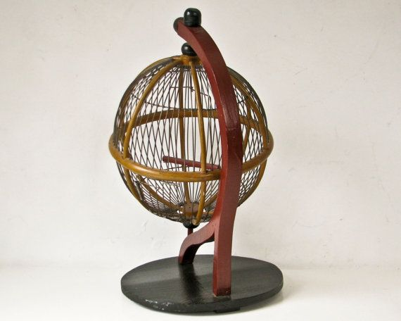 Bird Cage Globe Sphere Round Birdcage Unusual by BeeJayKay