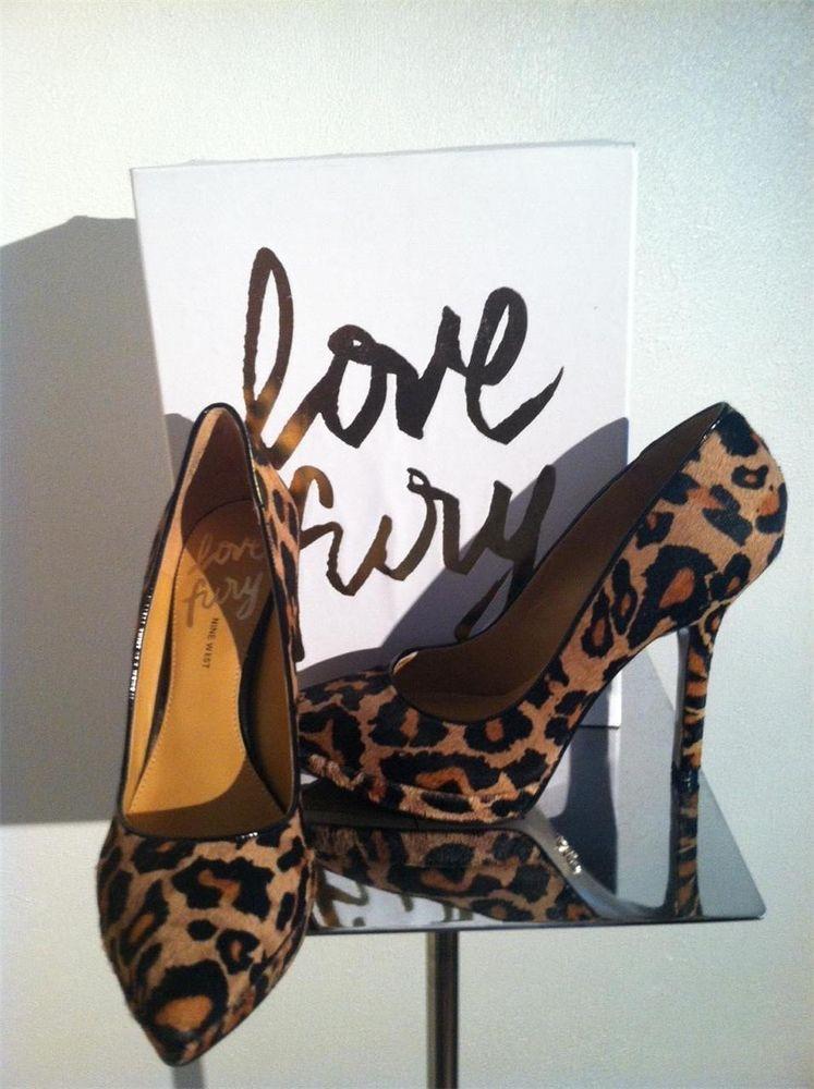 Nine West Love Fury Leopard Print Pointy Toe Platform Classic High Heel Pump 9M #NineWestLoveFury #PumpsClassics