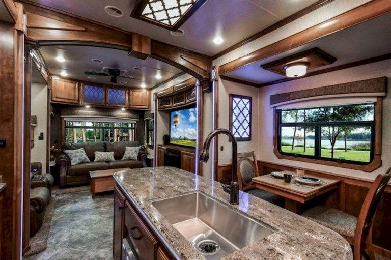 35 Top Rv Living 5th Wheels Interior Remodel Ideas Decoration