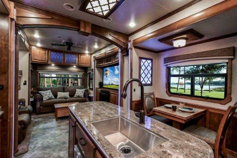 37 Top Rv Living 5th Wheels Interior Ideas Decoration Luxury Rv