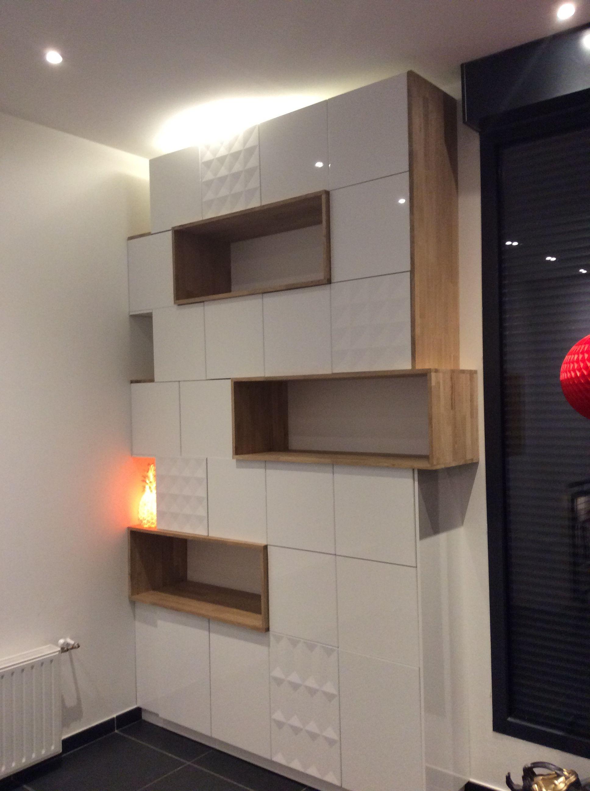 Module Metod Ikea Scandinave Design Laque Blanc Filip