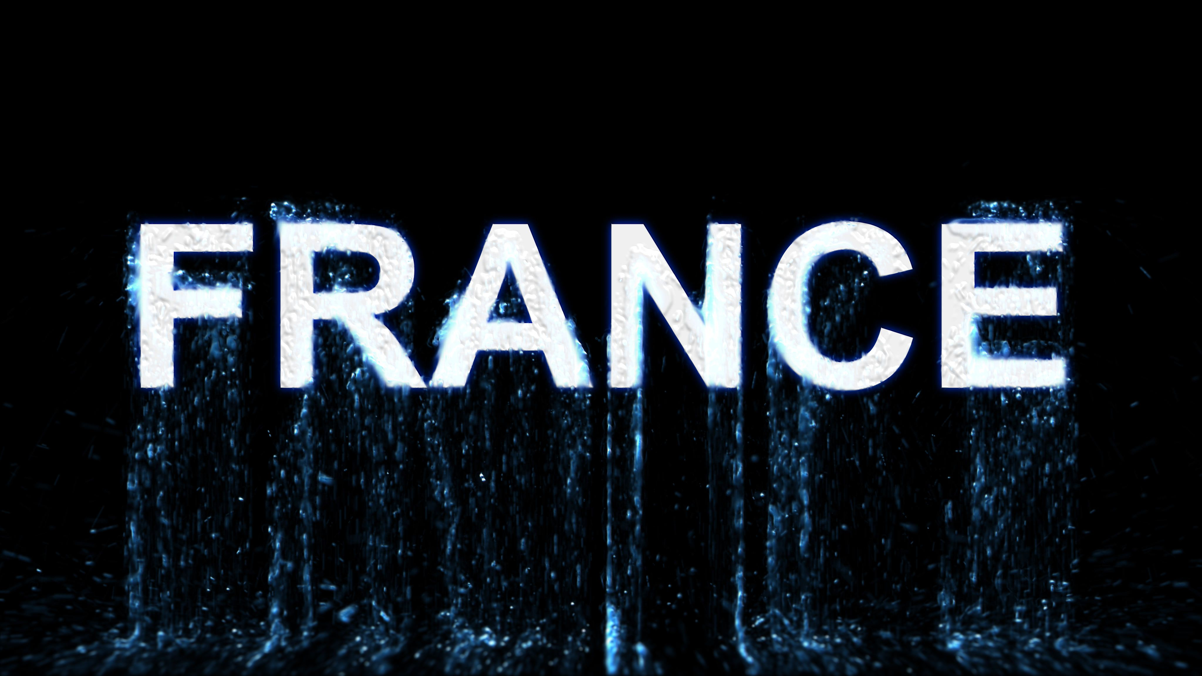 Title France Arises From Blue Water Transparent Alpha Channel 3d