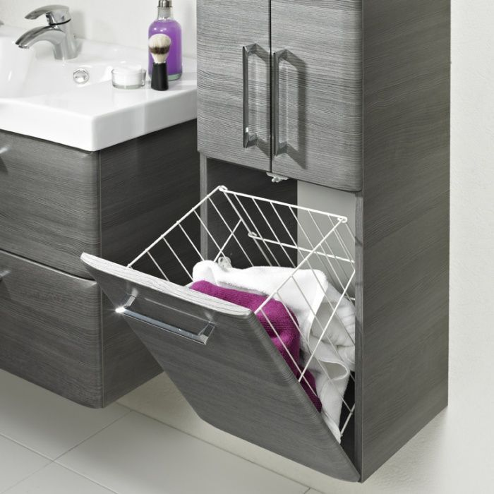 10 Designideen Fur Waschekorbe Fur Schranke 11 In 2020 Ikea Badschrank Badezimmer Hochschrank Waschekorb Schrank