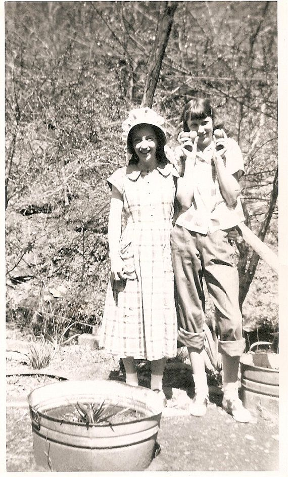 Appalachian farm girls, Kentucky. My mom grew up in Eastern Ky. she was  born 1929, the little girl in the dress is what she probably looked like  then.