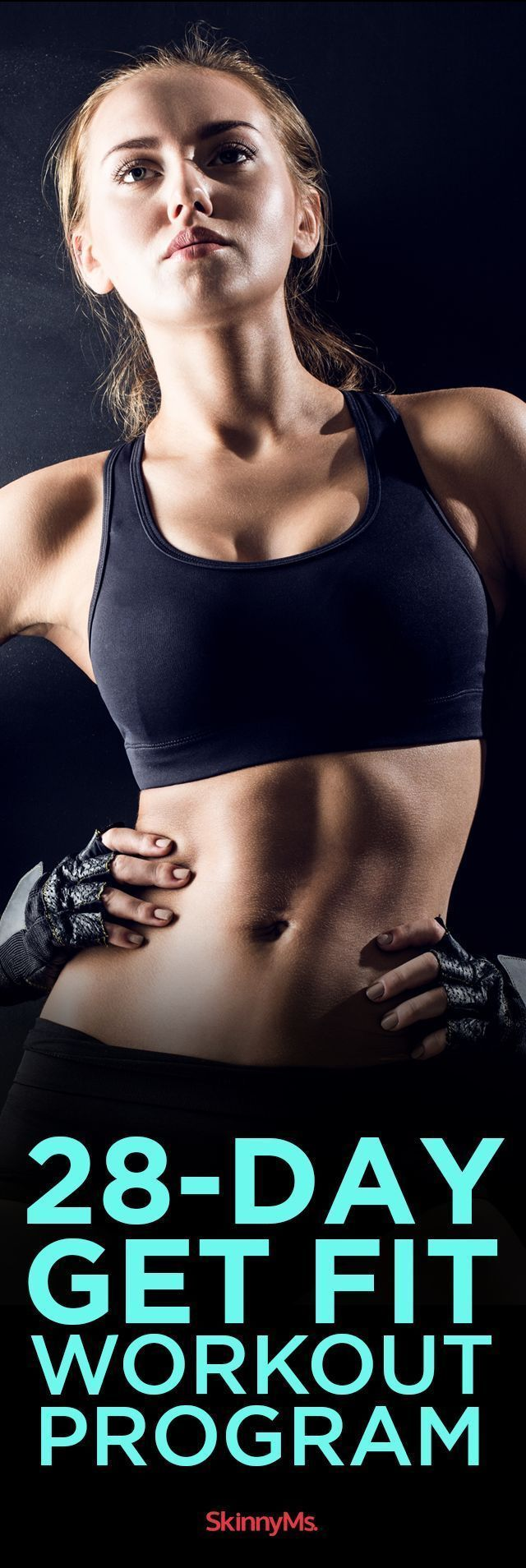 Develop strong, lean muscles with our 28-Day Get Fit Program! #SkinnyMs #challenge #fitness #goals