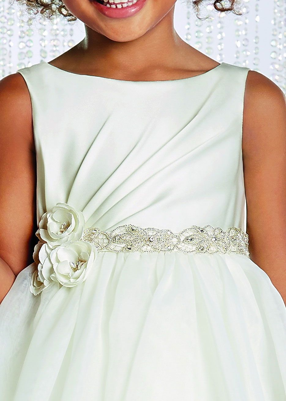 AA_732_SALE - Alfred Angelo Girls Dress Style 732 - SALE White-Silver Size 8 (1 piece available) - Alfred Angelo - Flower Girl Dresses - Flower Girl Dress For Less