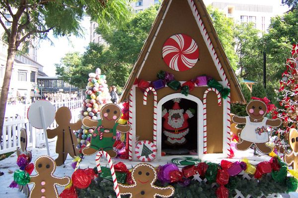 outdoor gingerbread house christmas decorations | Christmas crafts ...