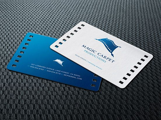 Blue business card creative magic carpet paper productions magic carpet productions business card magic carpet productions business card picture on visualizeus colourmoves Gallery