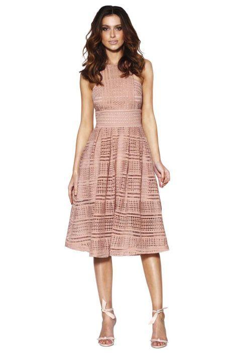 Grace & Hart - Allure Floaty Dress - Blush - Front