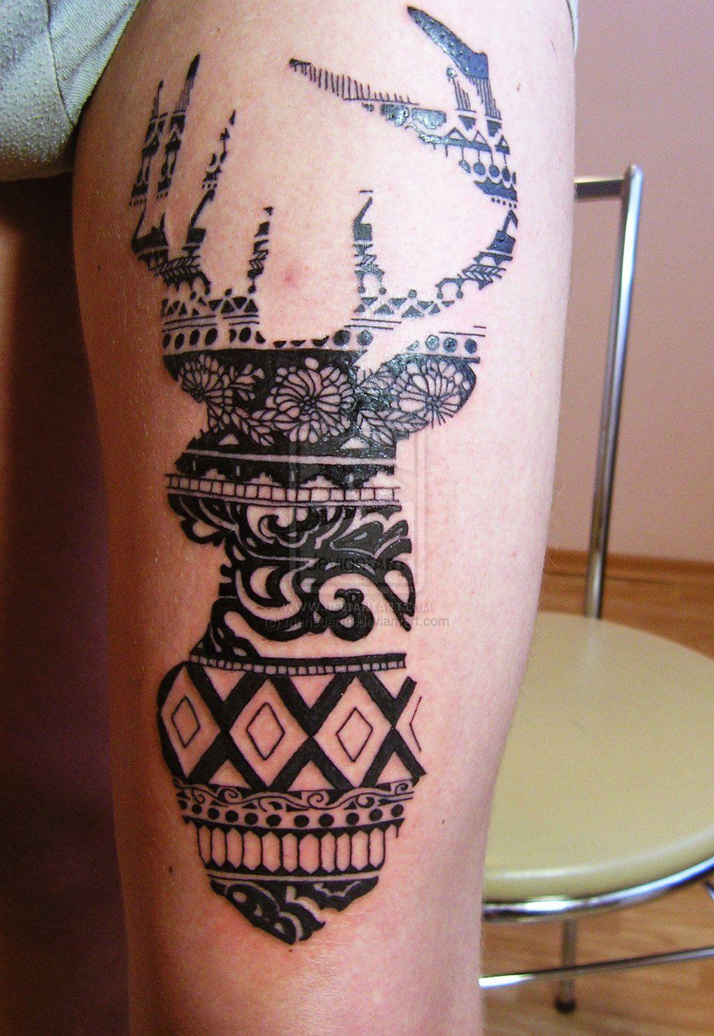 deer tattoo by mariedamn.deviantart.com on @deviantART