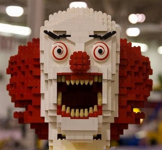At least a lego creepy clown is easy to disassemble. Just don't step on him. Creepy Dolls Facebook