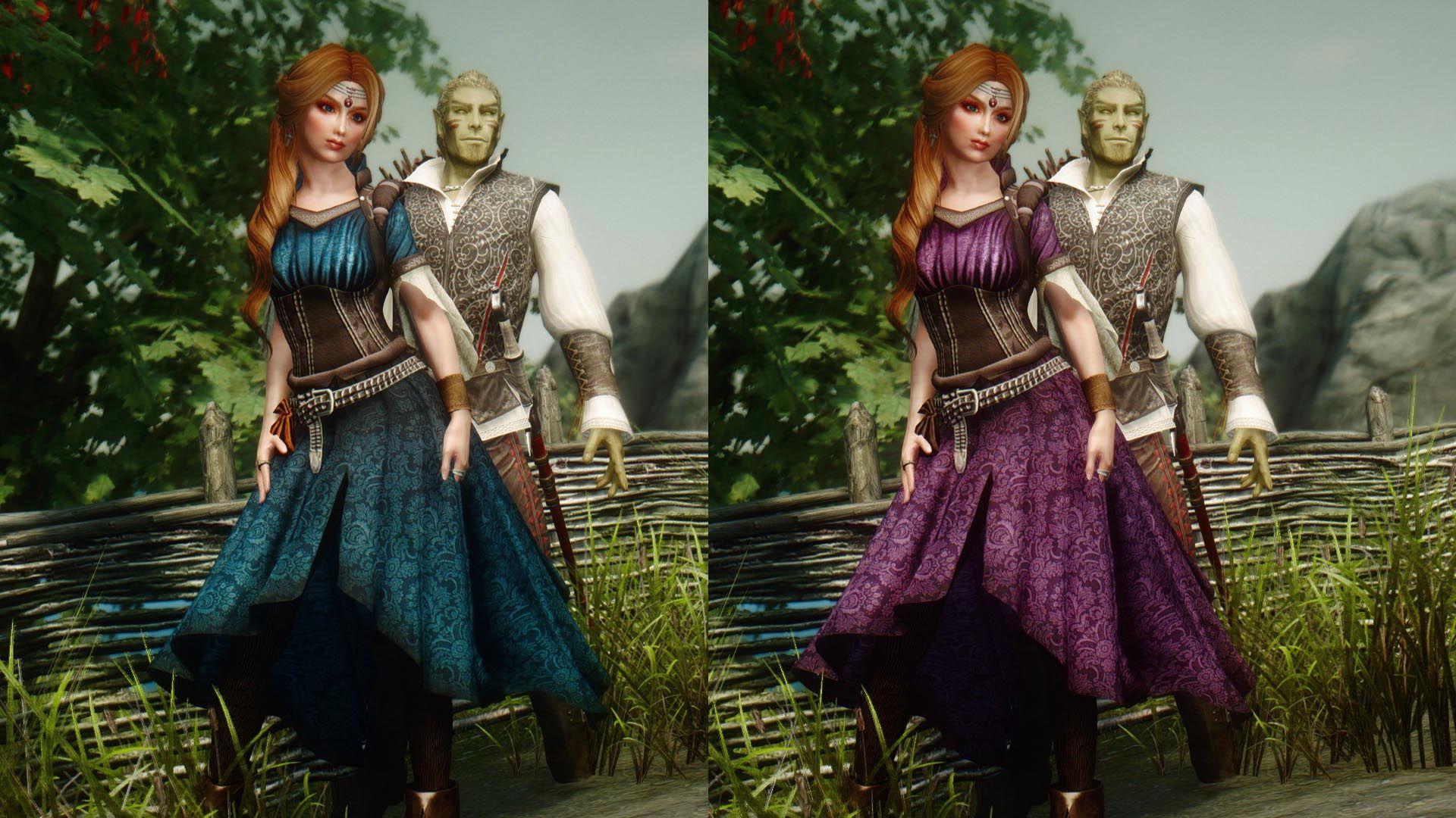 VS Noble Archeress Dress Dovahkiin Edition at Skyrim Nexus