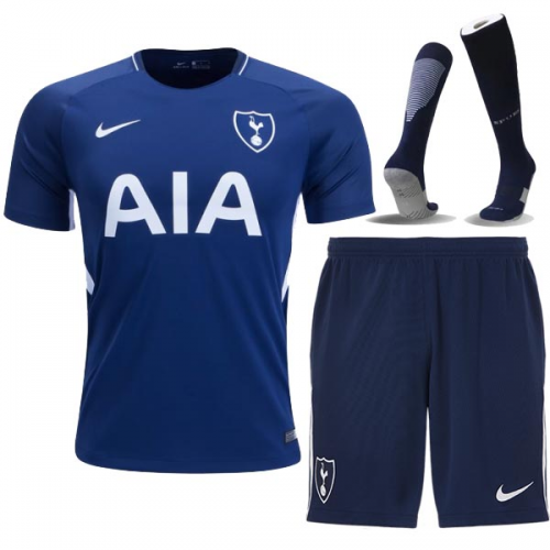 finest selection 7cd59 e44ec 17-18 Tottenham Hotspur Away Blue Jersey Kit(Shirt+Short+ ...