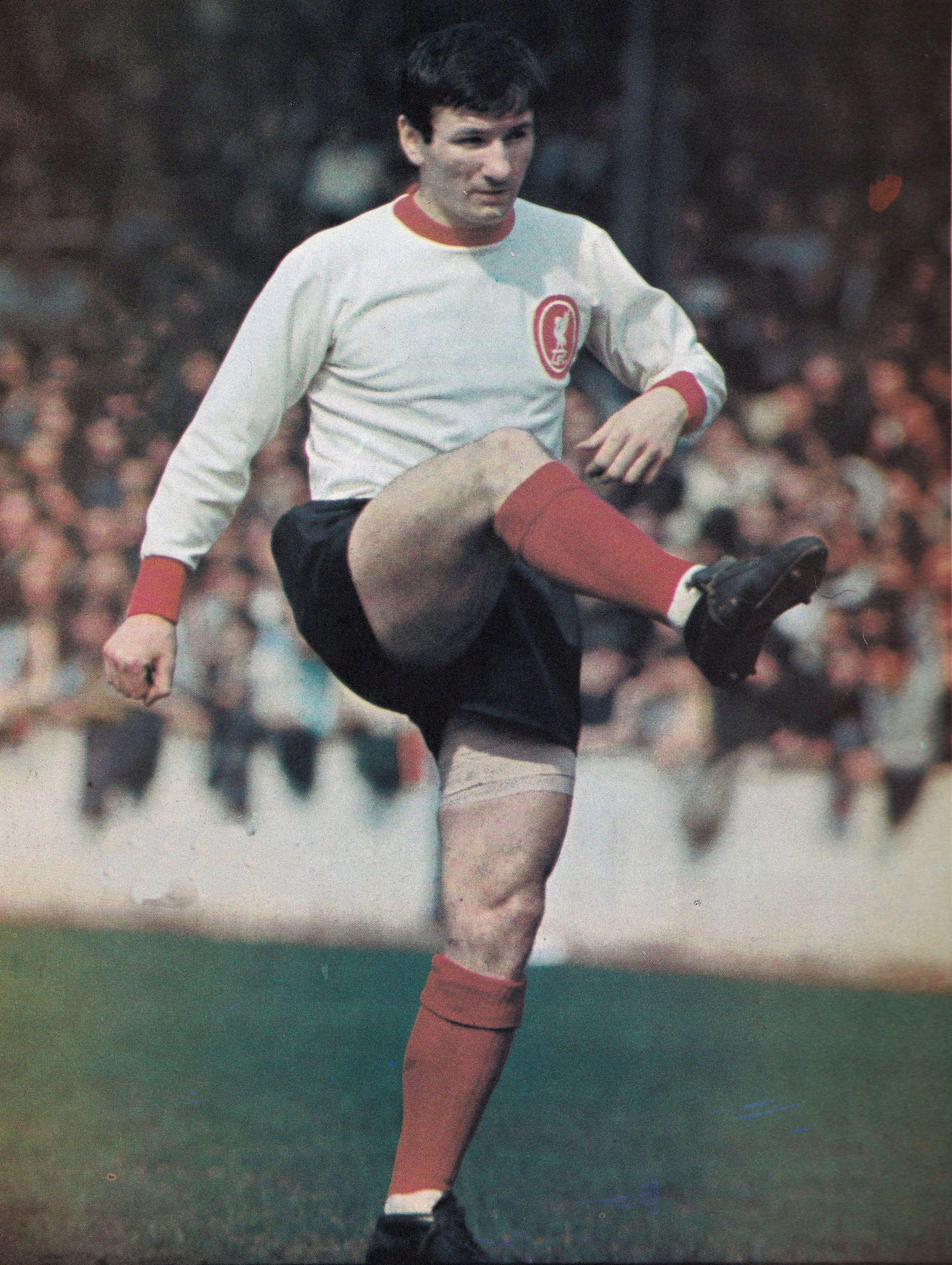 circa 196768 liverpool half back tommy smith football