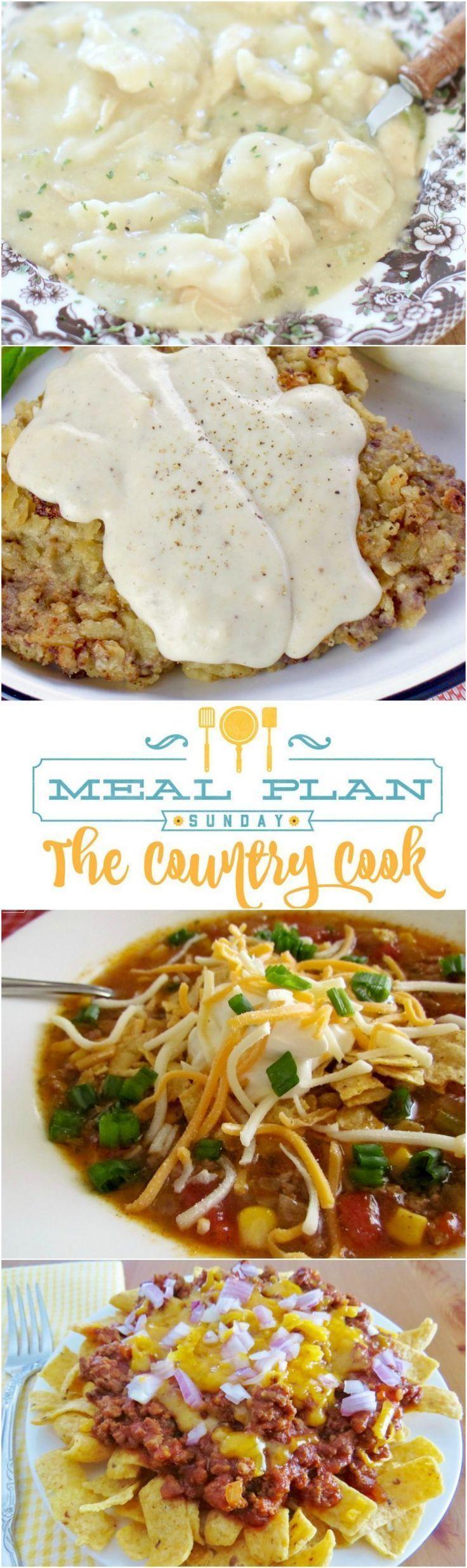 Meal Plan recipes include: Crock Pot Chicken & Dumplings ...