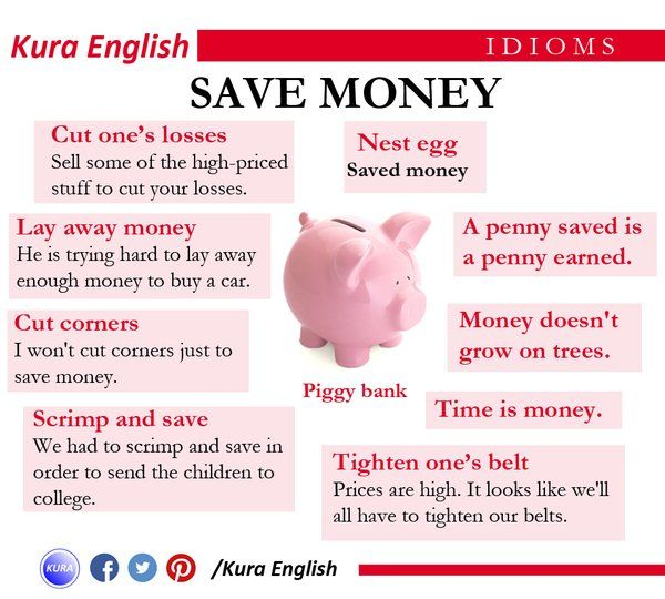 Idioms to save money